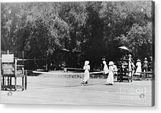 Tennis Champions Sutton And Hotchkiss Acrylic Print by Omikron