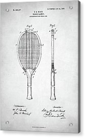 Tennis Racket Patent 1907 Acrylic Print by Taylan Apukovska