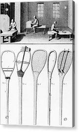 Tennis Rackets Acrylic Print by French School