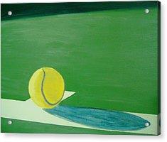 Tennis Reflections Acrylic Print by Ken Pursley