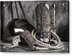 Texas Lawman Acrylic Print by Tom Mc Nemar