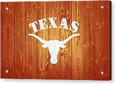 Texas Longhorns Barn Door Acrylic Print by Dan Sproul