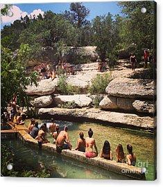 Texas Summer Days Acrylic Print by Jennifer Ansier