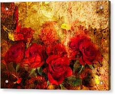 Texture Roses Acrylic Print by Svetlana Sewell