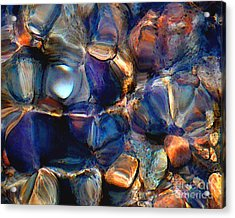 Textures Of A Streambed 6 Acrylic Print by Terril Heilman