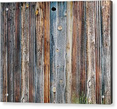 Textures Of An Old Barn Acrylic Print by Terril Heilman