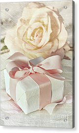 Thank You Gift At Wedding Reception Acrylic Print by Sandra Cunningham