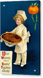 Thanksgiving Card Acrylic Print by Ellen Hattie Clapsaddle