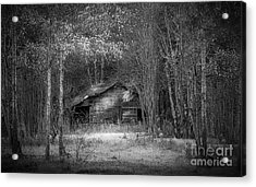 That Old Barn-bw Acrylic Print by Marvin Spates