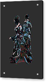 That Red And Green Tartan Pattern Acrylic Print by John Groves