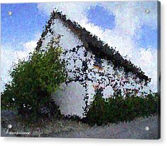 Thatched Country House Impressionist Painting Acrylic Print by Dawn Hay
