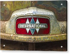 The 1947 International Emblem Ihc Trucks Acrylic Print by Reid Callaway