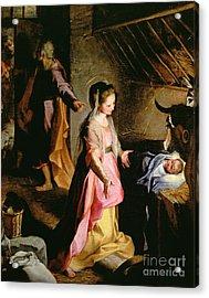 The Adoration Of The Child Acrylic Print by Federico Fiori Barocci or Baroccio