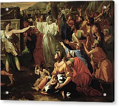 The Adoration Of The Golden Calf Acrylic Print by Nicolas Poussin