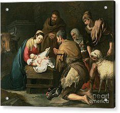 The Adoration Of The Shepherds Acrylic Print by Bartolome Esteban Murillo