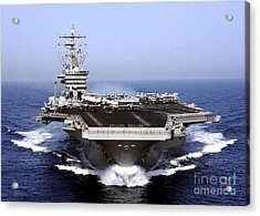 The Aircraft Carrier Uss Dwight D Acrylic Print by Stocktrek Images