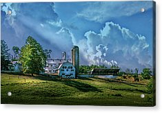 The Amish Farm Acrylic Print by Marvin Spates
