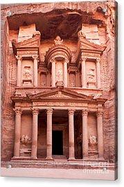 The Ancient Treasury Petra Acrylic Print by Jane Rix