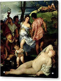 The Andrians Acrylic Print by Titian