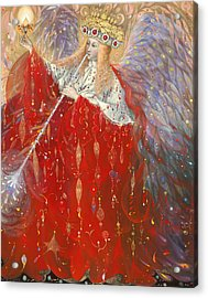 The Angel Of Life Acrylic Print by Annael Anelia Pavlova