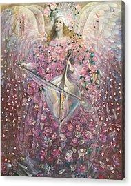 The Angel Of Love Acrylic Print by Annael Anelia Pavlova