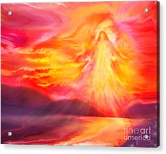 The Angel Of Protection Acrylic Print by Glenyss Bourne