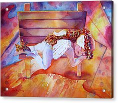 The Angel's Nap Acrylic Print by Estela Robles