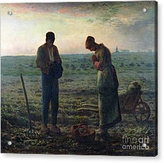 The Angelus Acrylic Print by Jean-Francois Millet