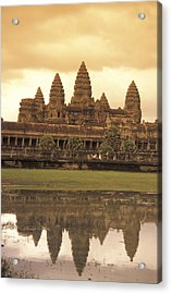 The Angkor Wat Temples In Siem Reap Acrylic Print by Richard Nowitz