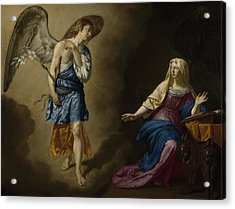 The Annunciation Acrylic Print by Adriaen van de Velde