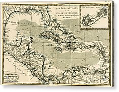 The Antilles And The Gulf Of Mexico Acrylic Print by Guillaume Raynal