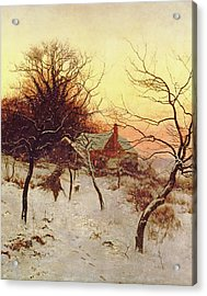 The Approach Of A Winter's Night Acrylic Print by Edward Wilkins Waite