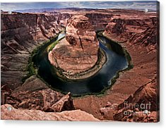 The Arizona Horsehoe Bend Of Colorado River Acrylic Print by Ryan Kelly