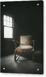 The Armchair In The Attic Acrylic Print by Scott Norris