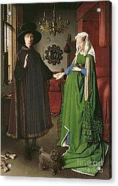 The Arnolfini Marriage Acrylic Print by Jan van Eyck