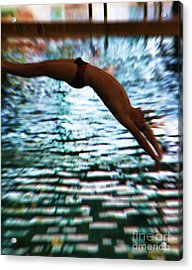 The Art Of Diving 5 Acrylic Print by Jeff Breiman