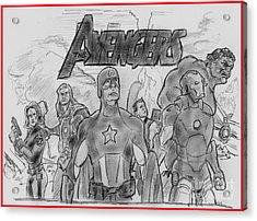 The Avengers Acrylic Print by Chris  DelVecchio