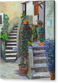 The Back Stairs Acrylic Print by Charlotte Blanchard