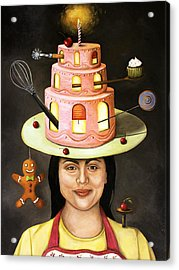 The Baker Acrylic Print by Leah Saulnier The Painting Maniac