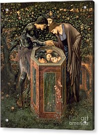 The Baleful Head Acrylic Print by Sir Edward Burne-Jones