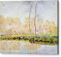 The Banks Of The River Epte At Giverny Acrylic Print by Claude Monet