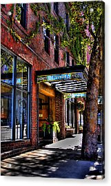 The Barney Mccoy Cafe Acrylic Print by David Patterson