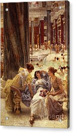 The Baths Of Caracalla Acrylic Print by Sir Lawrence Alma-Tadema