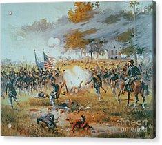 The Battle Of Antietam Acrylic Print by Thure de Thulstrup