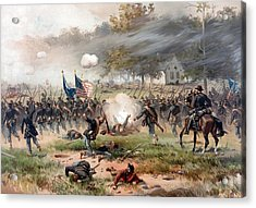 The Battle Of Antietam Acrylic Print by War Is Hell Store