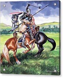 The Battle Of Bannockburn Acrylic Print by Ron Embleton