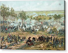 The Battle Of Gettysburg Acrylic Print by Paul Dominique Philippoteaux