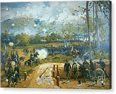 The Battle Of Kenesaw Mountain Acrylic Print by American School