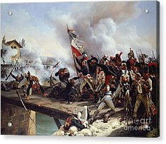 The Battle Of Pont D'arcole Acrylic Print by Emile Jean Horace Vernet