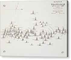 The Battle Of Trafalgar Acrylic Print by Alexander Keith Johnston